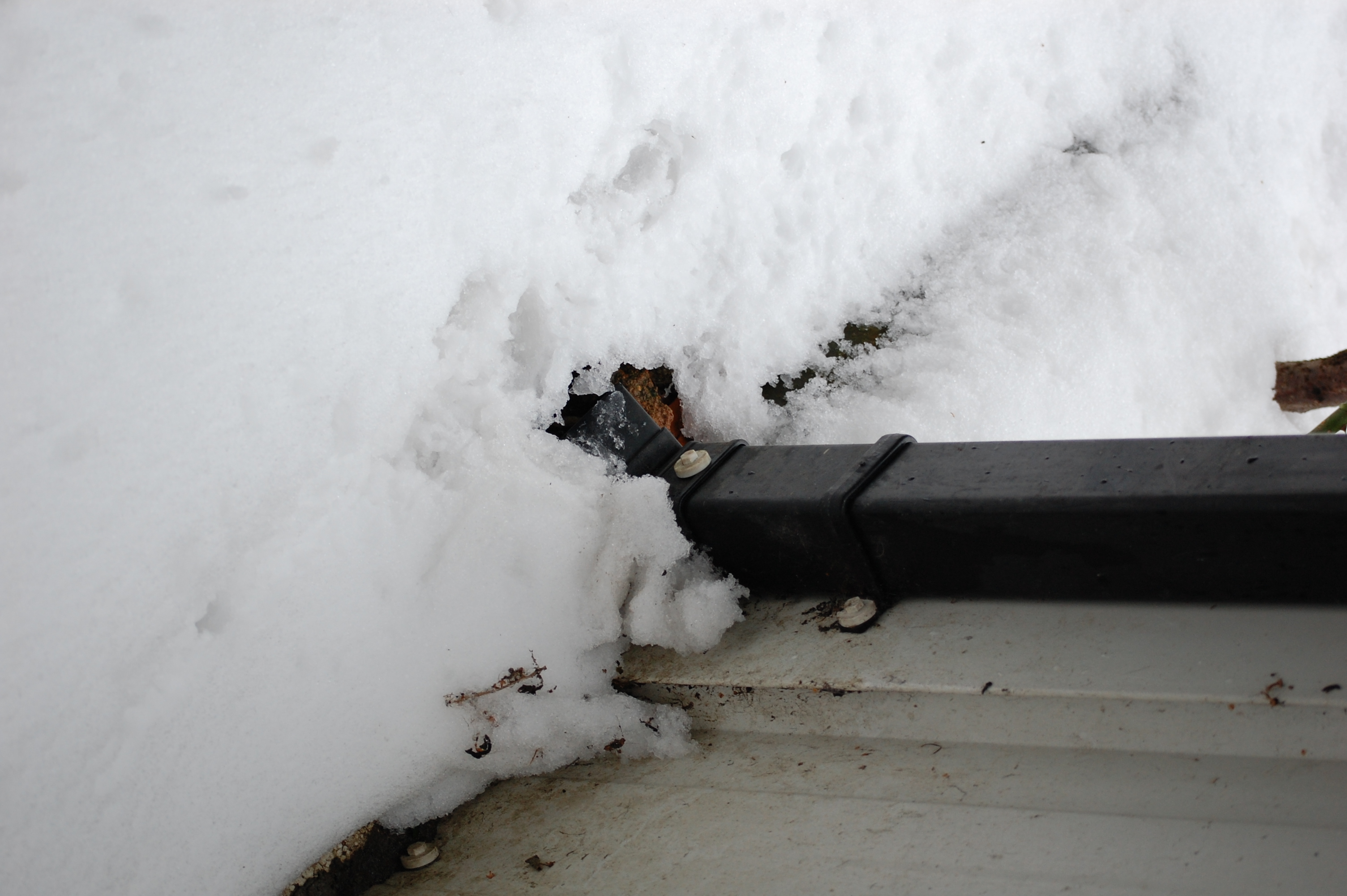 Note surface water drains and gully traps around your home, they can overflow and flood as snow melts