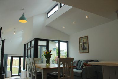 Open Plan Living Space Interior Lit from Above