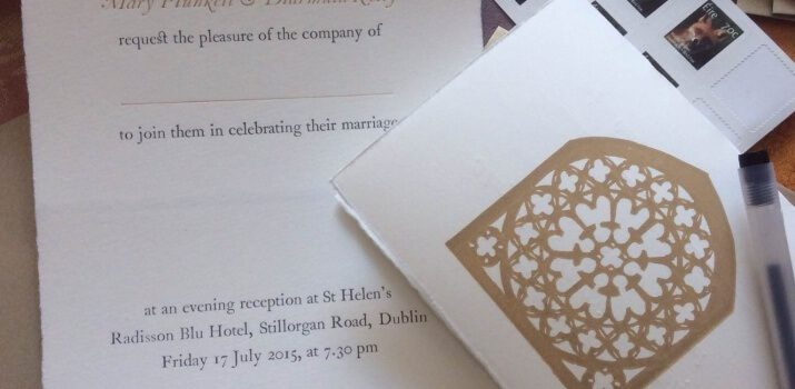 Diarmuid and Mary's Wedding Invitation
