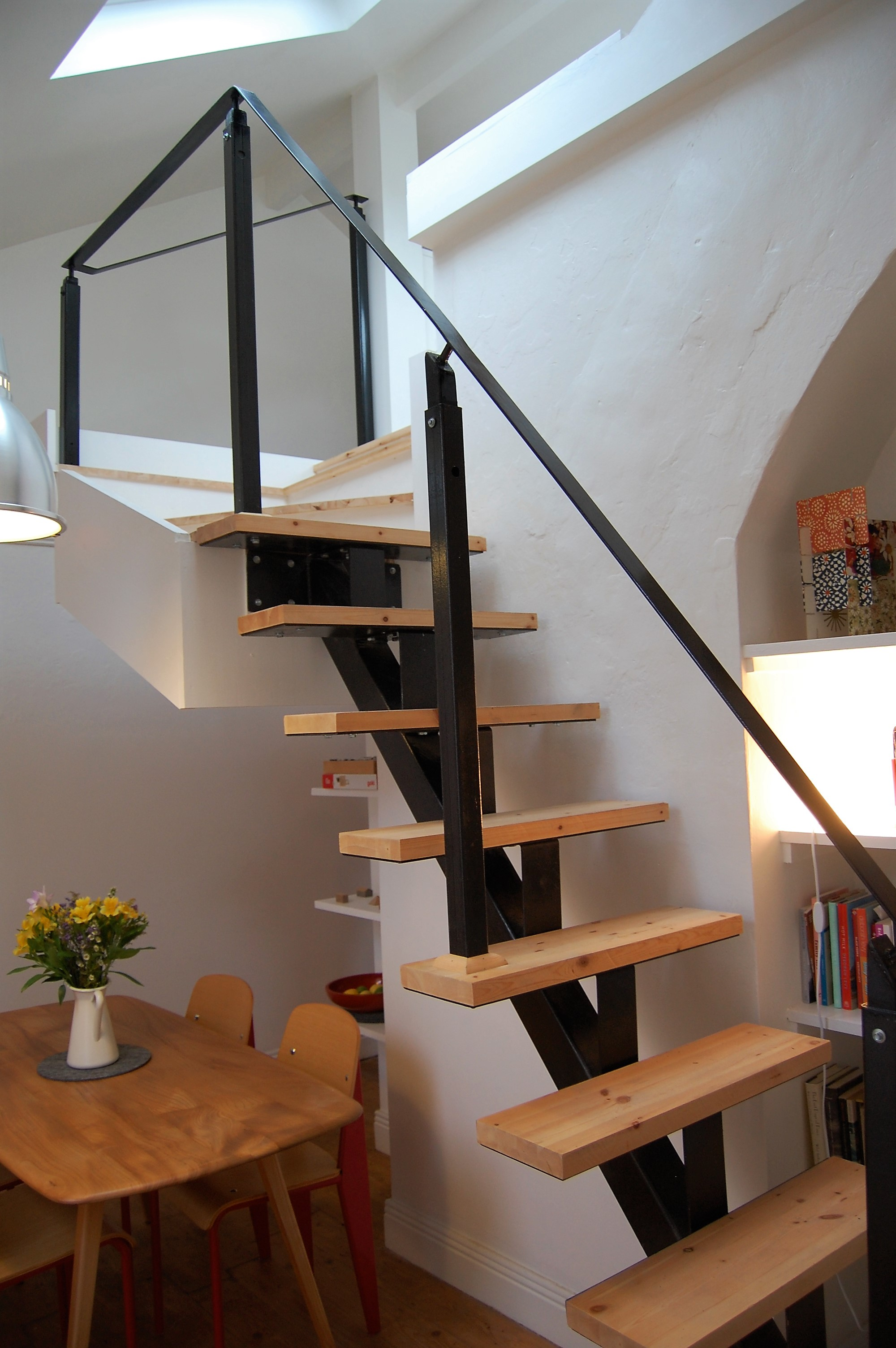 Stairs and Display Wall