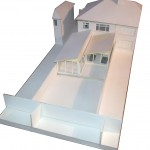 Architectural Design Model Showing Extension