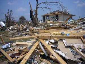 Hurricane Damage Scene