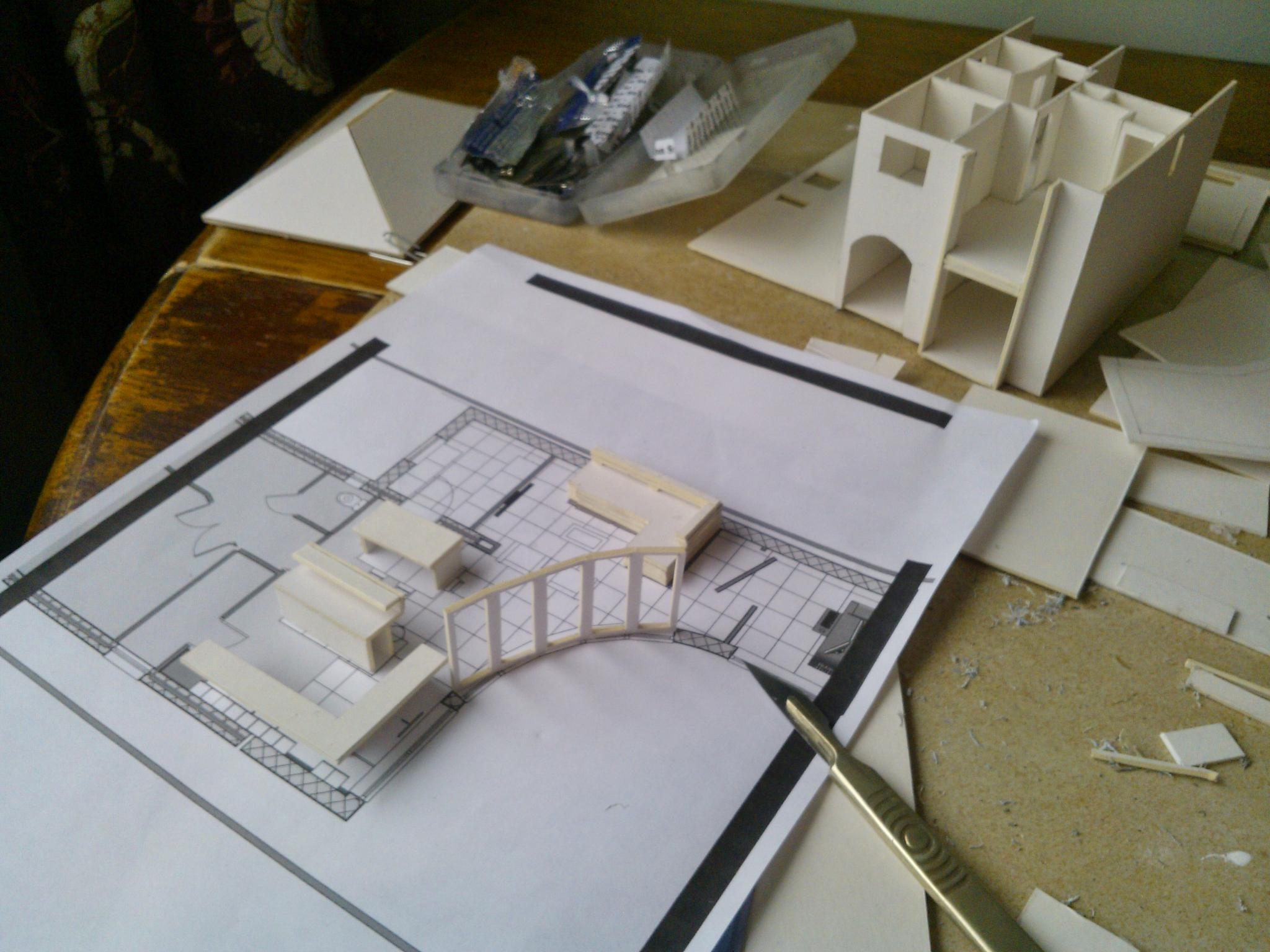 After months spent changing over to BIM, a white card model makes a refreshing change!