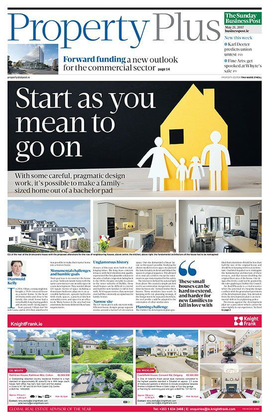 Delighted to see our Drumcondra house on the cover of Property Plus in Today's Sunday Business Post